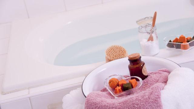 子宮筋腫を改善するための癒される入浴剤
